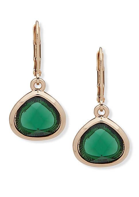 Anne Klein Stone Drop Earrings