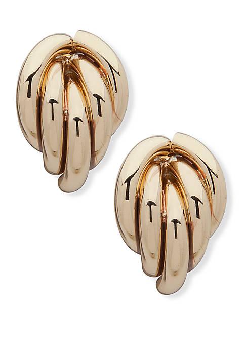 Anne Klein Gold Tone EZ Comfort Clip Button