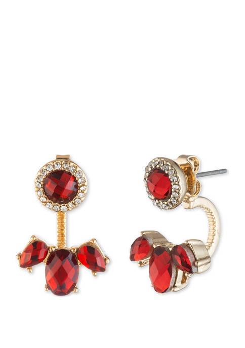 Gold Tone Siam Earr Floater Earrings