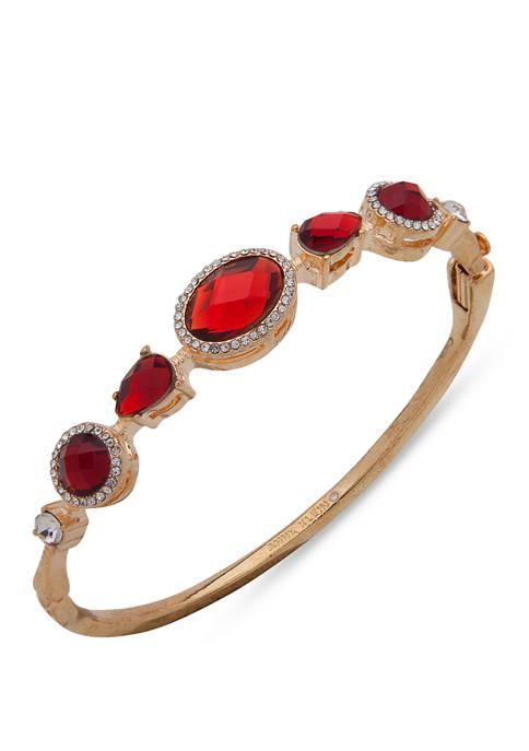 Anne Klein Gold Tone Siam Box Clasp Bracelet