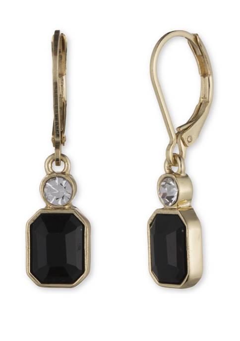 Anne Klein Gold Tone Siam Drop Earrings