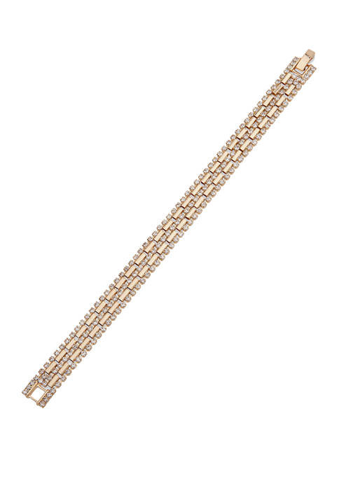 Anne Klein Gold Tone Crystal Soft Pave Chain