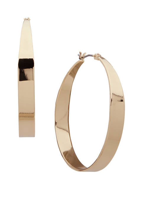 Anne Klein Gold Tone Hoop Earrings