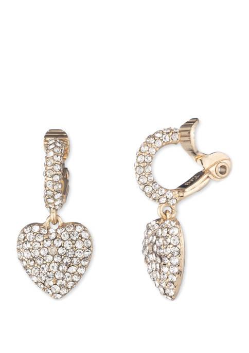 Anne Klein Gold Tone Crystal EZ Comfort Clip