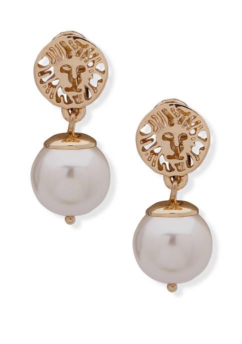 Anne Klein Gold Tone Pearl EZ Comfort Clip