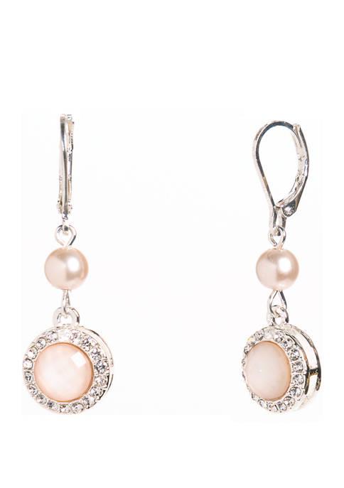 Anne Klein Lever Back Double Drop Earrings