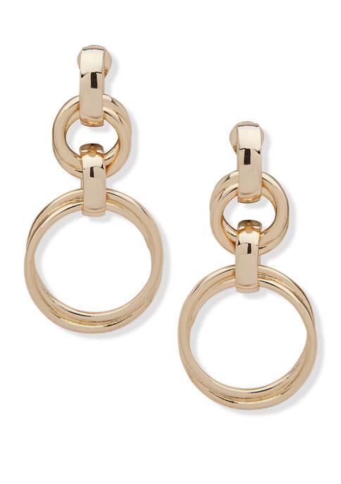 Anne Klein Gold Tone EZ Comfort Clip Knot