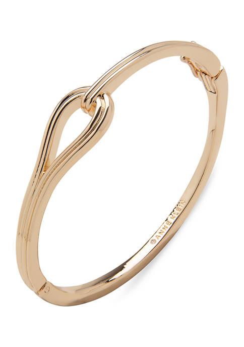 Anne Klein Gold Tone Link Hinge Bracelet