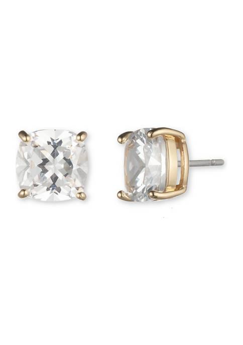 Anne Klein Gold Tone Crystal Cubic Zirconia Cushion