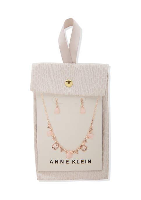 Anne Klein Rose Gold Tone Blush Multi Pear