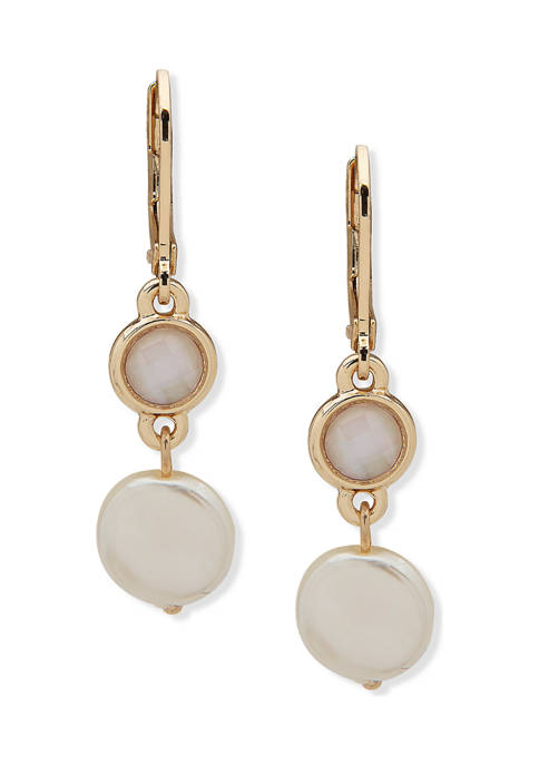 Anne Klein Gold Tone White Pearl Mother of