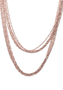 Double Multi Chain Necklace