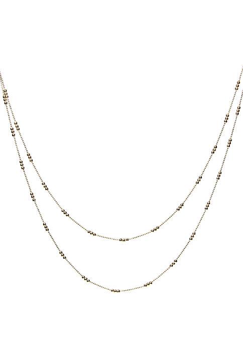 Kim Rogers® 2 Row Shot Bead Station Chain
