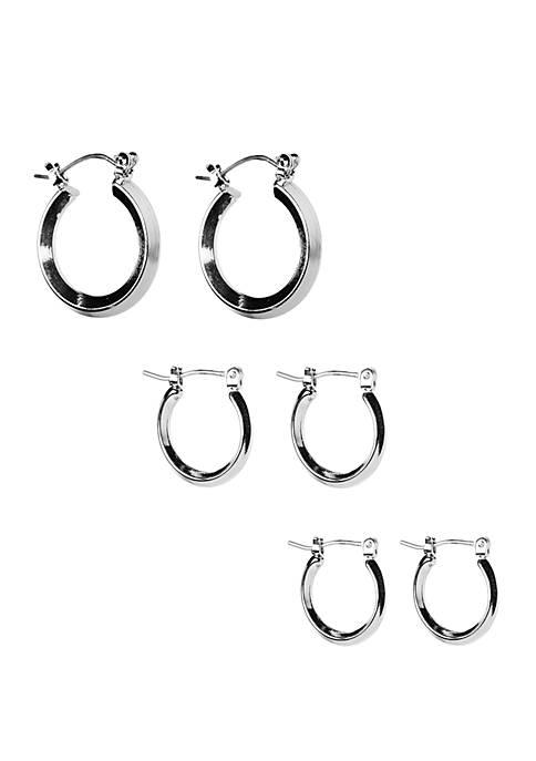 Set of 3 Hoop Earrings