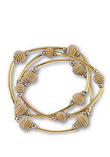 3-Piece Beehive beaded Stretch Bracelet Set