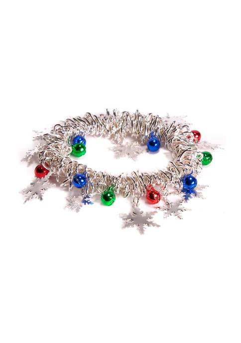 Kim Rogers® Snowflake Charm Stretch Bracelet