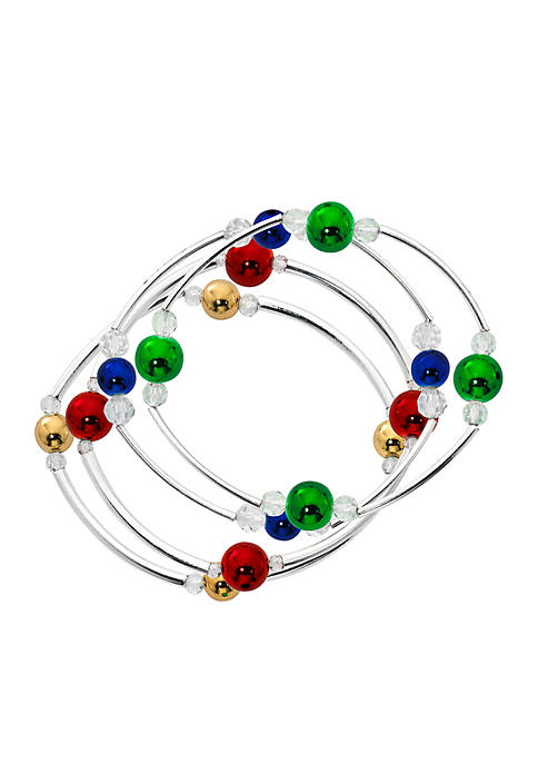 Kim Rogers® Two-Tone Four Row Multi Colored Ball