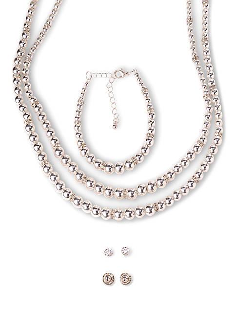 7 Piece Round Bead Jewelry Set