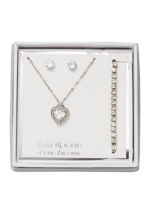 Necklace, Earrings, and Bracelet Set