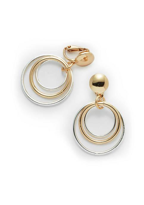 3 Circle Hoop Earrings