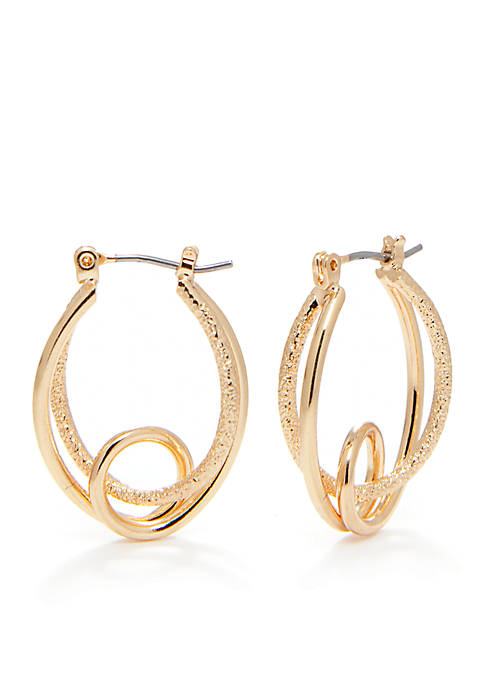 Kim Rogers® Gold-Tone Sensitive Skin Hula Hoop Earrings