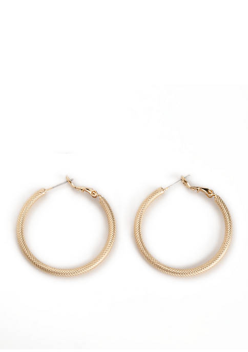 Kim Rogers® Sculptured Twist Hoop Earrings