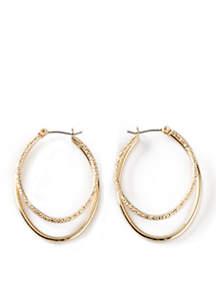 Smith Oval Hoop Earrings