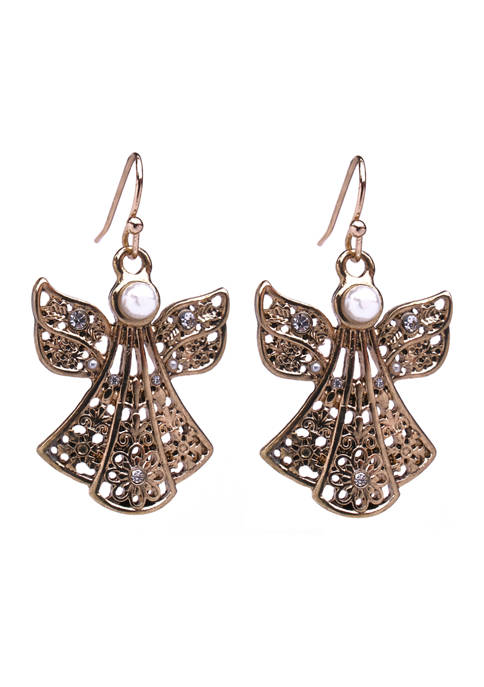Filigree Angel Earrings