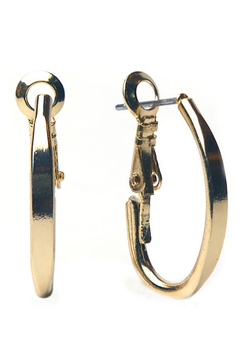 Kim Rogers® Gold-Tone J Hoop Earrings