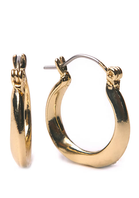 Kim Rogers® Sculpted Twist Hoop Earrings