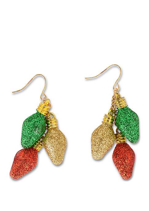 Kim Rogers® Gold Tone Ornament Cluster Drop Earrings