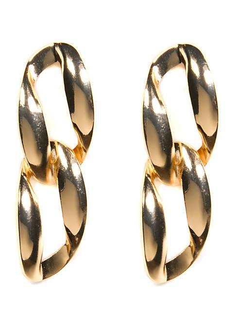 Kim Rogers® Oval Double Link Drop Earrings