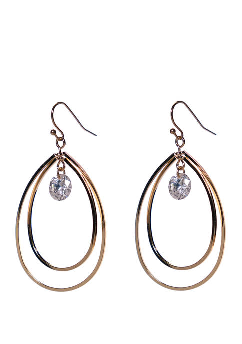 Kim Rogers® Cubic Zirconium Double Teardrop Earrings