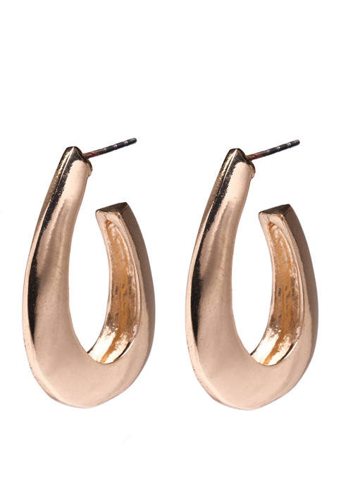 Kim Rogers® Metal Puff Hoop Earrings