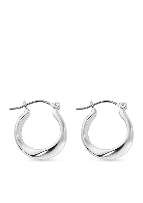 Kim Rogers® Silver-Tone Sculpted Twist Hoop Earrings