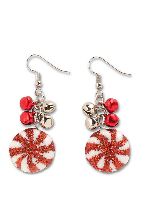 Kim Rogers® Round Candy Cane Drop Earrings