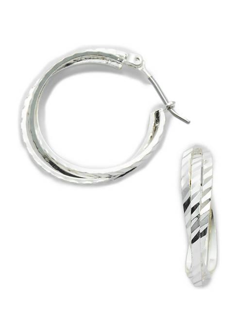 Kim Rogers® Bypass Hoop Earrings