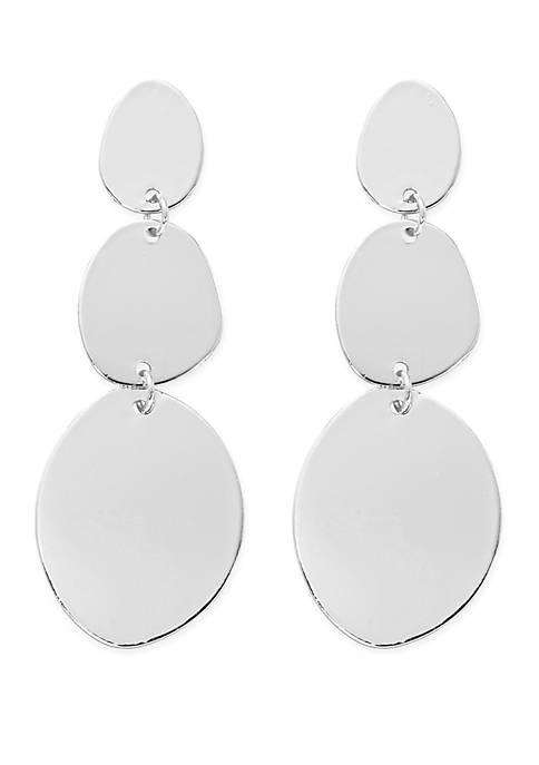 Flat Geometric Drop Earrings