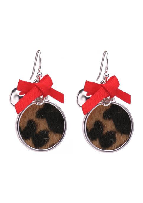 Leopard Ornament Earrings