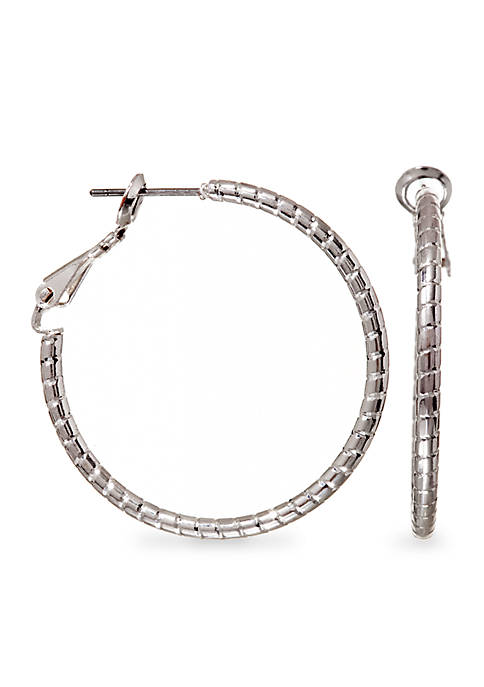 Kim Rogers® Silver Plated Medium Size Wire Hoop