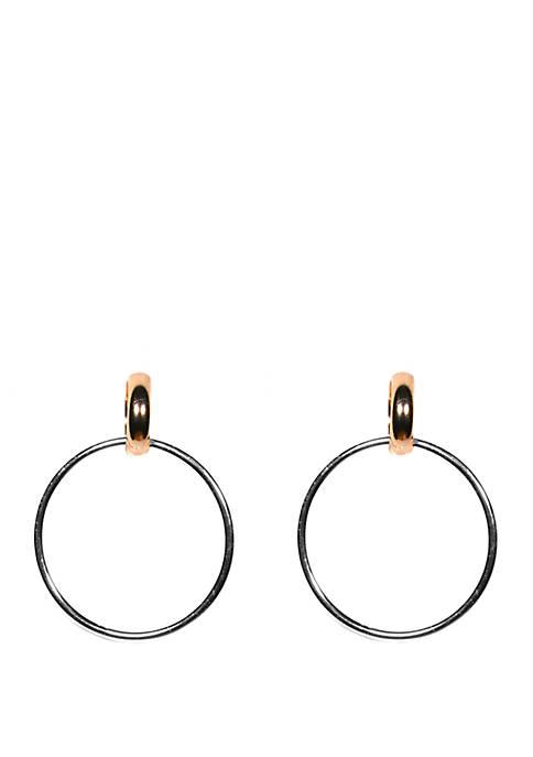 Kim Rogers® Open Circle Drop Earrings