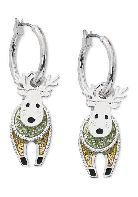 Two Tone Reindeer Earrings