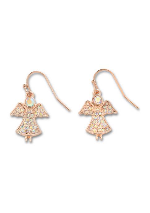 Pave Angel Earrings