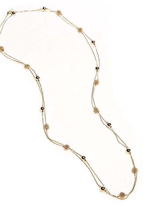 Kim Rogers® Gold Plated Fashion Necklace with Station