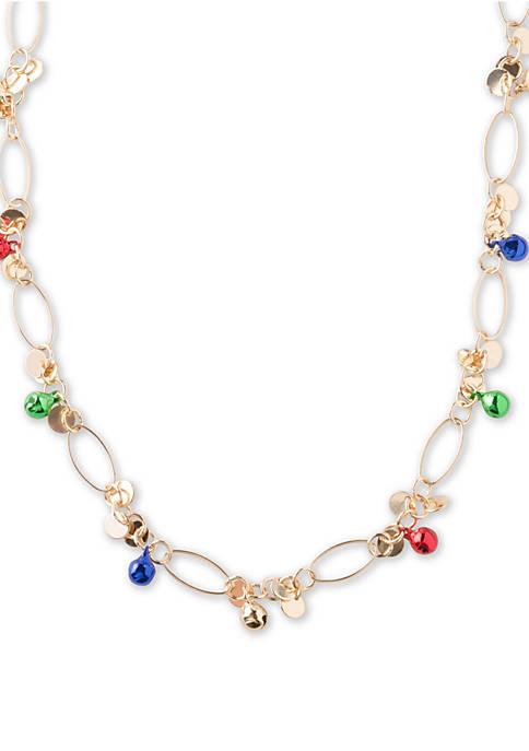 Kim Rogers® Gold Tone Multicolor Ball Necklace