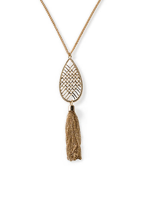 Kim Rogers® Elizabeth Tassel Pendant Necklace