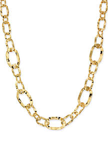 New Directions® Wavy Oval Mix Link Necklace