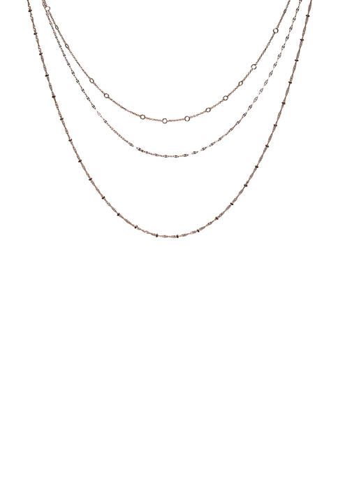 Kim Rogers® 3 Row Mixed Chain Necklace