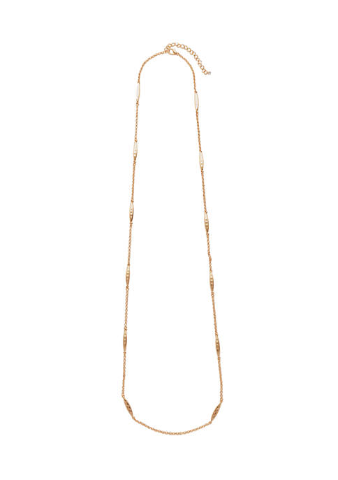 Kim Rogers® 36 Inch Hammered Chain Necklace