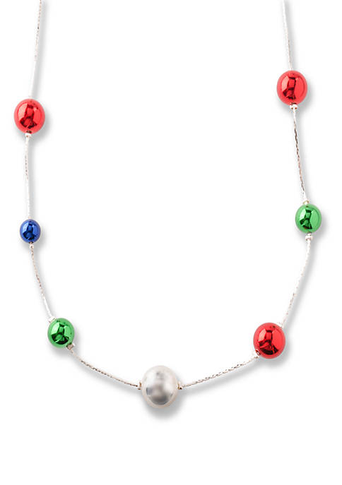 Kim Rogers® Long Silver Tone Illusion Necklace